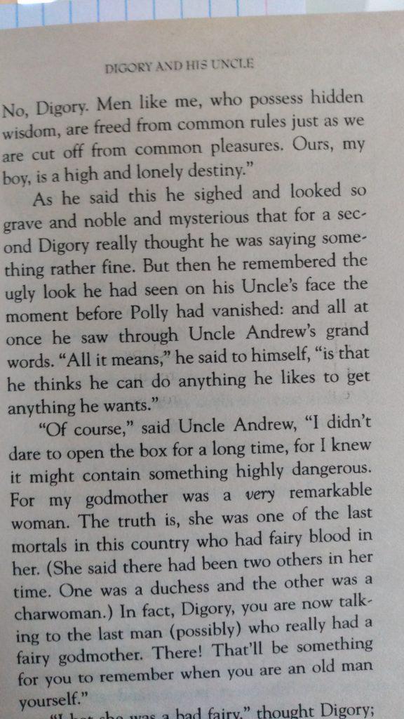 The Magicians Nephew, C. S. Lewis, p. 21