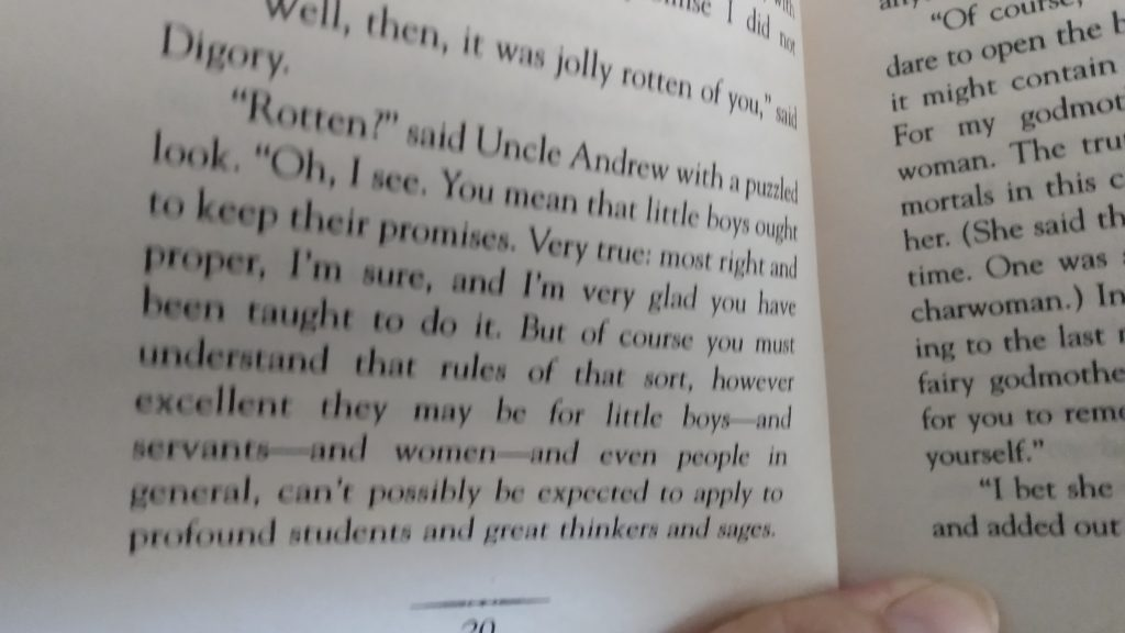 The Magicians Nephew, C. S. Lewis, p. 20